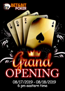 BET&BIT Grand Opening Two-Day Series Schedule!